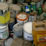 arsilom peinture souillés usagée de dechets