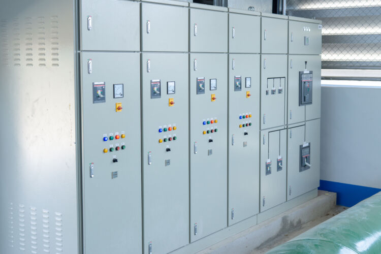 electrical,control,cabinet,in,industrial,system.